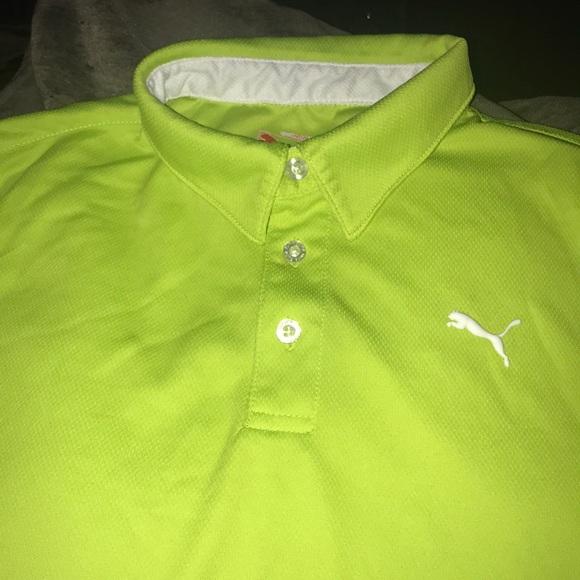 08d136e1 Puma Shirts & Tops   Boys Golf Shirt Lime Green   Poshmark